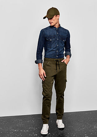 Tracksuit bottoms: Pants with cargo pockets from s.Oliver