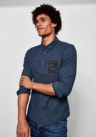 Extra Slim: shirt with breast pocket from s.Oliver