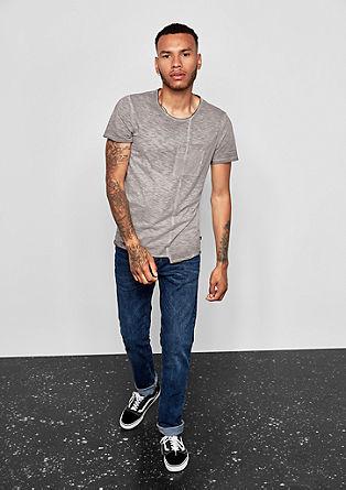 Shirt met garment-washed effect, van slubgaren