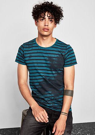 T-shirt met een spray print