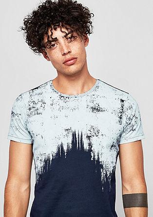 T-shirt met gestructureerde print