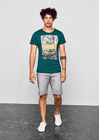 T-Shirt mit Artwork-Print