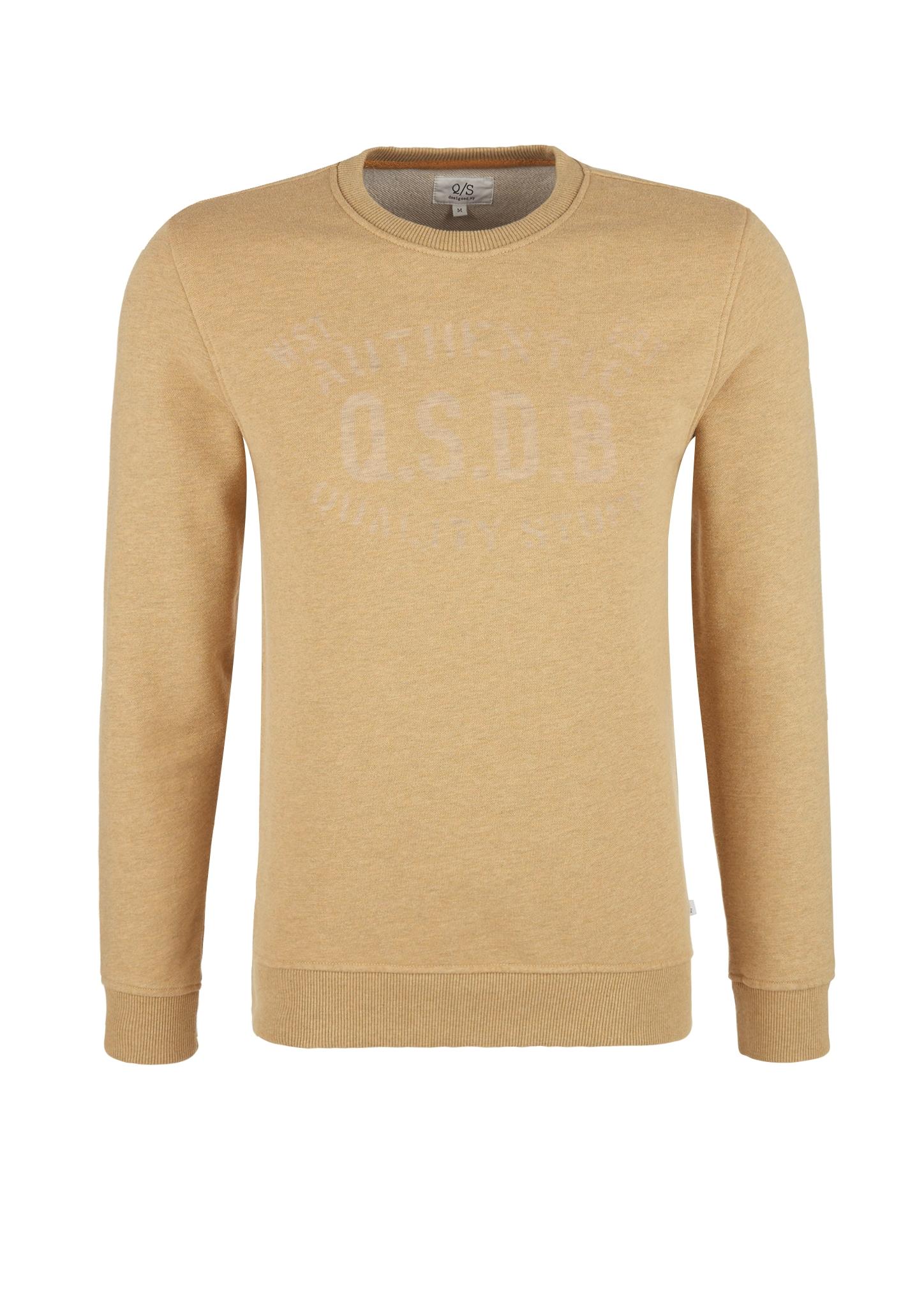 Sweatshirt | Bekleidung > Sweatshirts & -jacken > Sweatshirts | Braun | 75% baumwolle -  25% polyester | Q/S designed by
