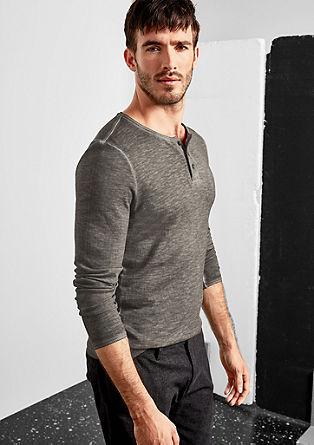 Henleyshirt mit Farbeffekt