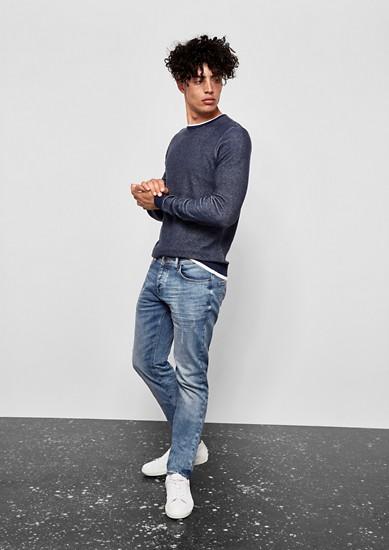 Gavin skinny: lichte jeans in used look