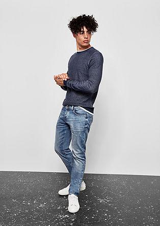 Gavin Skinny: Helle Used-Jeans