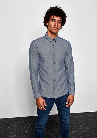 Extra Slim: Fischgrät-Hemd