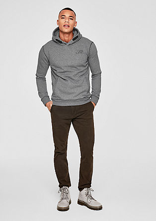 Melange sweatshirt with a hood from s.Oliver