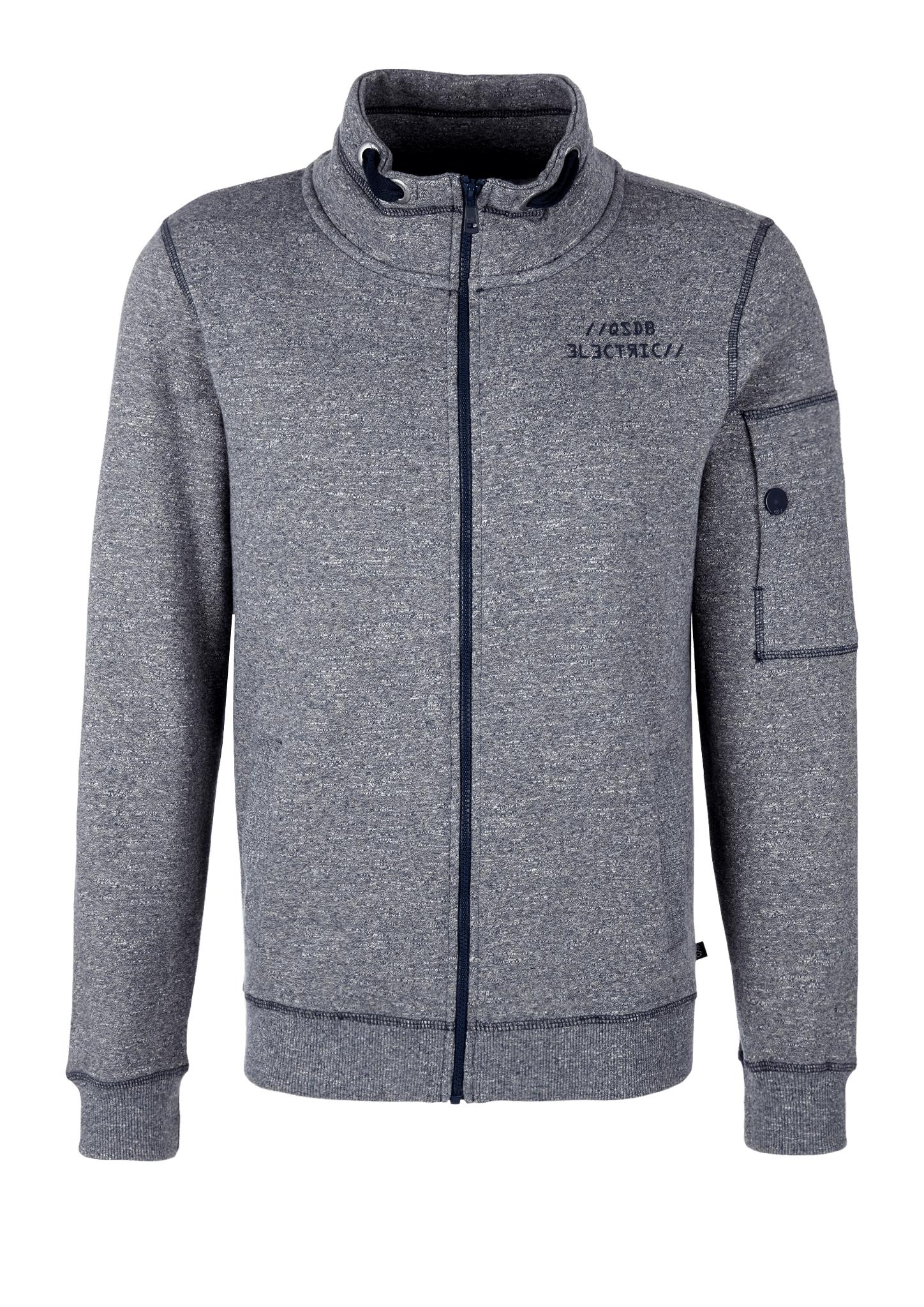 Sweatjacke | Bekleidung > Sweatshirts & -jacken > Sweatjacken | Blau | Obermaterial 75% baumwolle -  25% polyester| bund 97% baumwolle -  3% elasthan | Q/S designed by