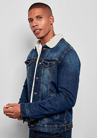 Denim jacket with cosy lining from s.Oliver