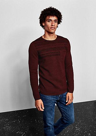 Pullover aus Strukturstrick