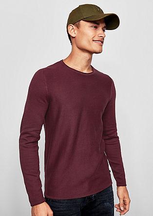 Lahek pleten pulover s teksturo