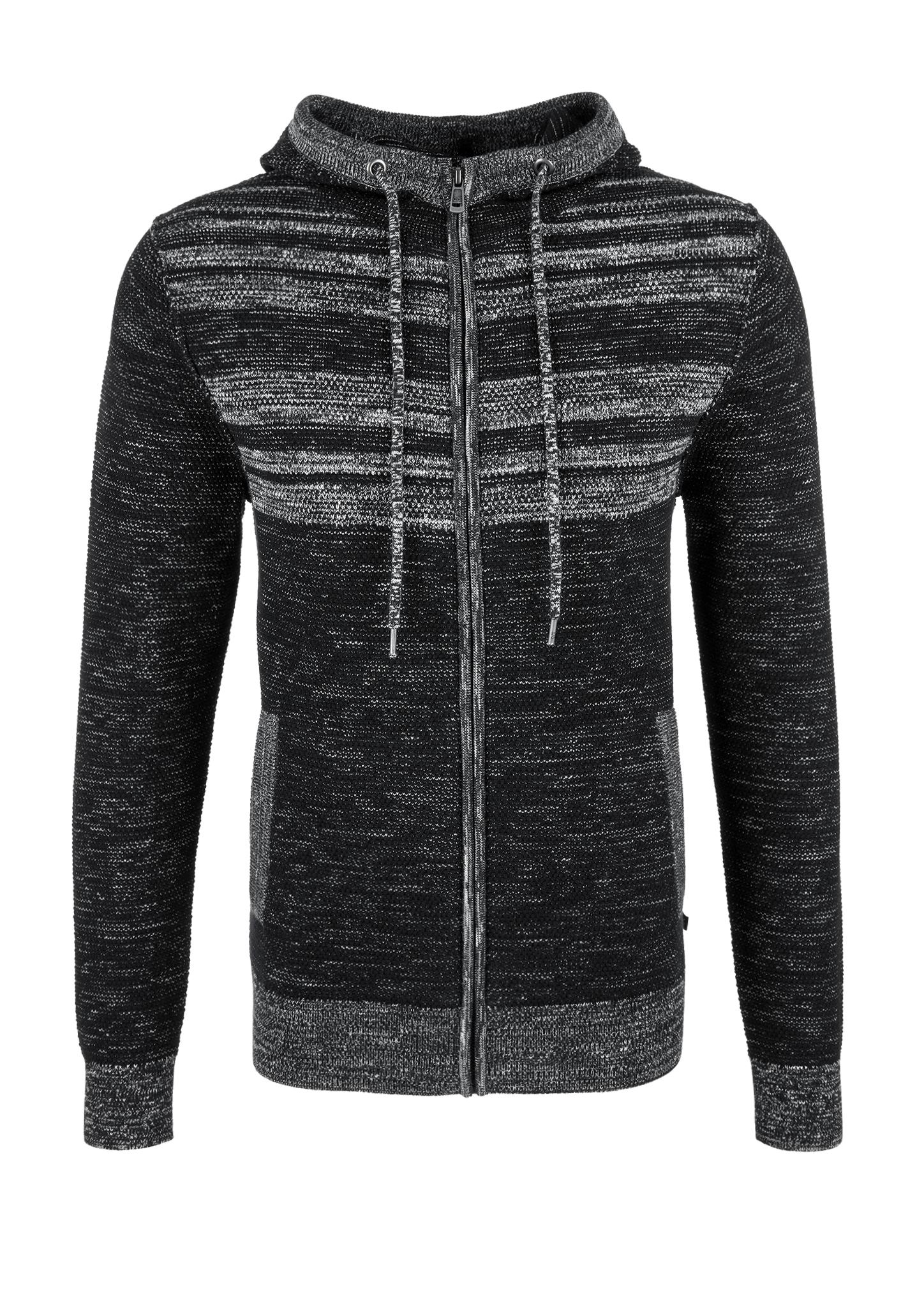 Strickjacke | Bekleidung > Strickjacken & Cardigans > Strickjacken | Grau/schwarz | 94% baumwolle -  6% polyamid | Q/S designed by