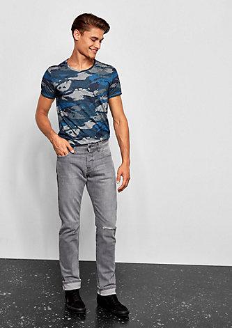 Rick Slim: Graue Used-Jeans