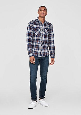 Extra Slim: stylish check shirt from s.Oliver