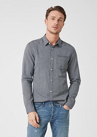 Extra Slim: Hemd mit Struktur