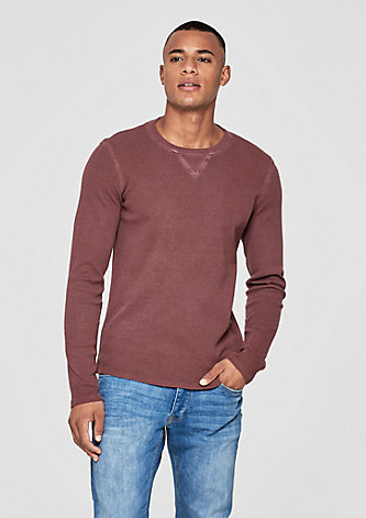 Garment Dye-Shirt mit Struktur