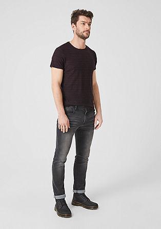Shirt met gestructureerde strepen