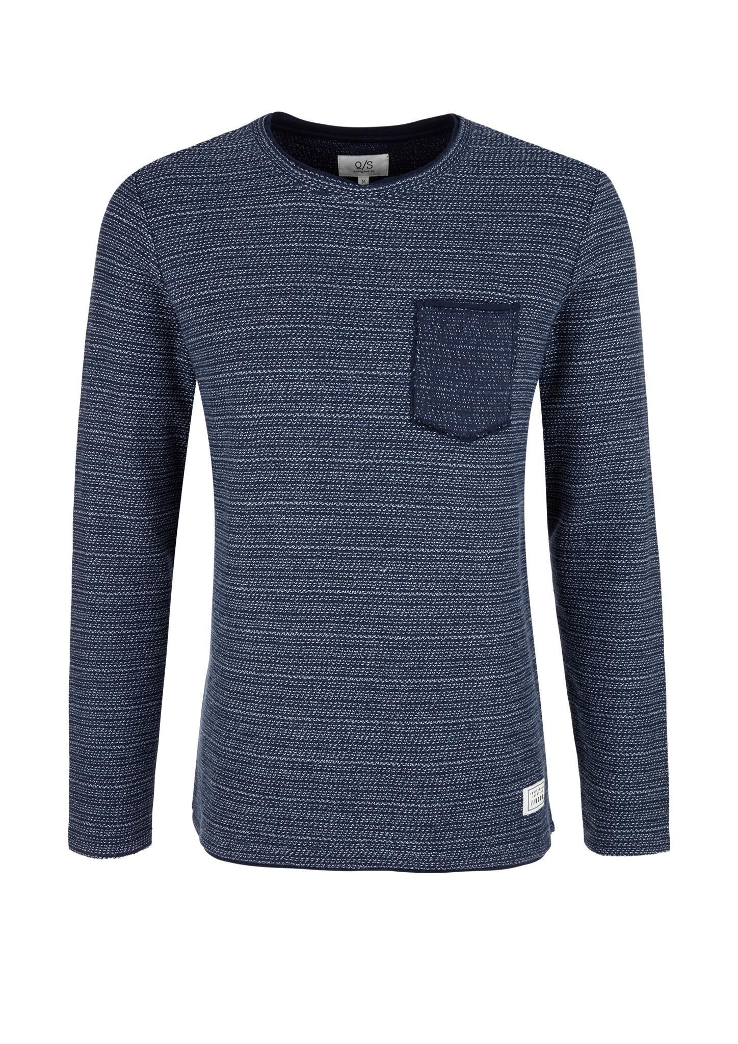 Sweatshirt | Bekleidung > Sweatshirts & -jacken | Blau | 100% baumwolle | Q/S designed by