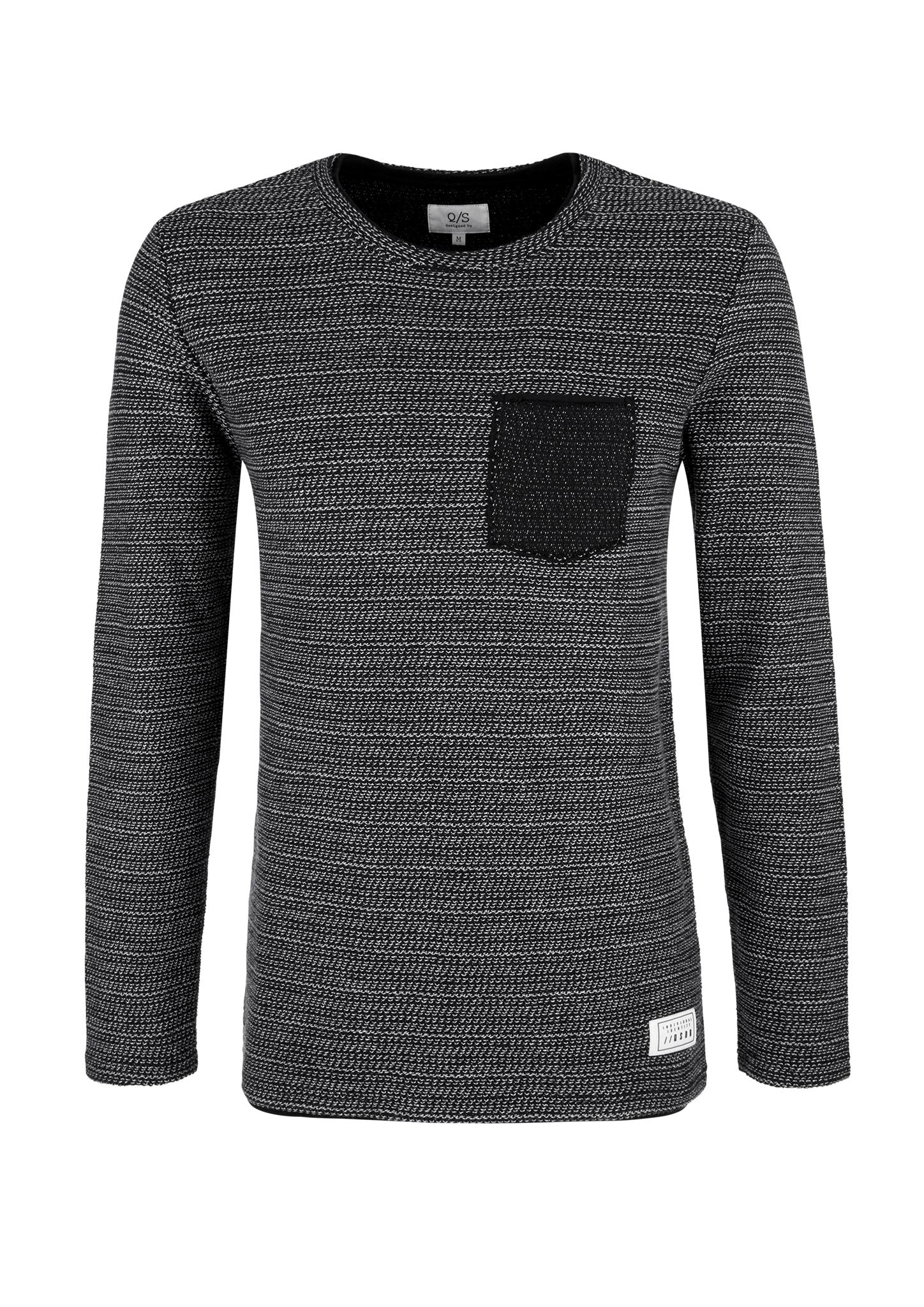 Sweatshirt | Bekleidung > Sweatshirts & -jacken > Sweatshirts | Grau/schwarz | 100% baumwolle | Q/S designed by