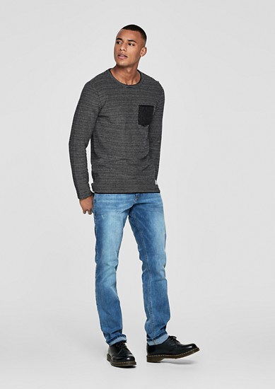 Two-tone mottled sweatshirt from s.Oliver