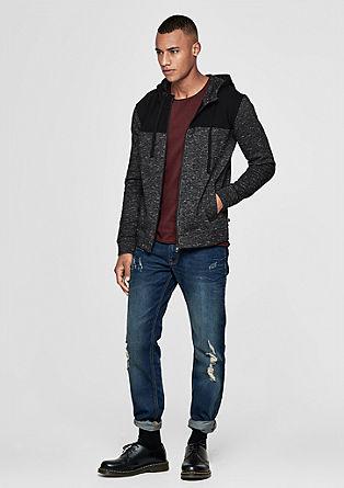 Melierte Hoodie-Jacket