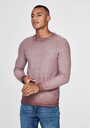 Pullover mit Cold Pigment Dye-Effekt