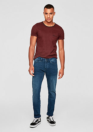 Rick Slim: Blue jeans with a button placket from s.Oliver