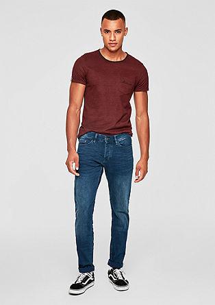 Rick Slim: modre jeans hlače z letvijo z gumbi