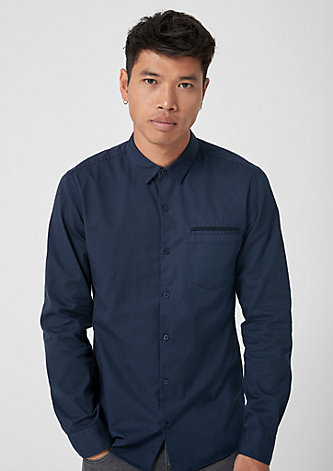 Extra Slim: Klassisches Baumwollhemd
