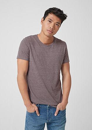 T-Shirt mit feinem Muster