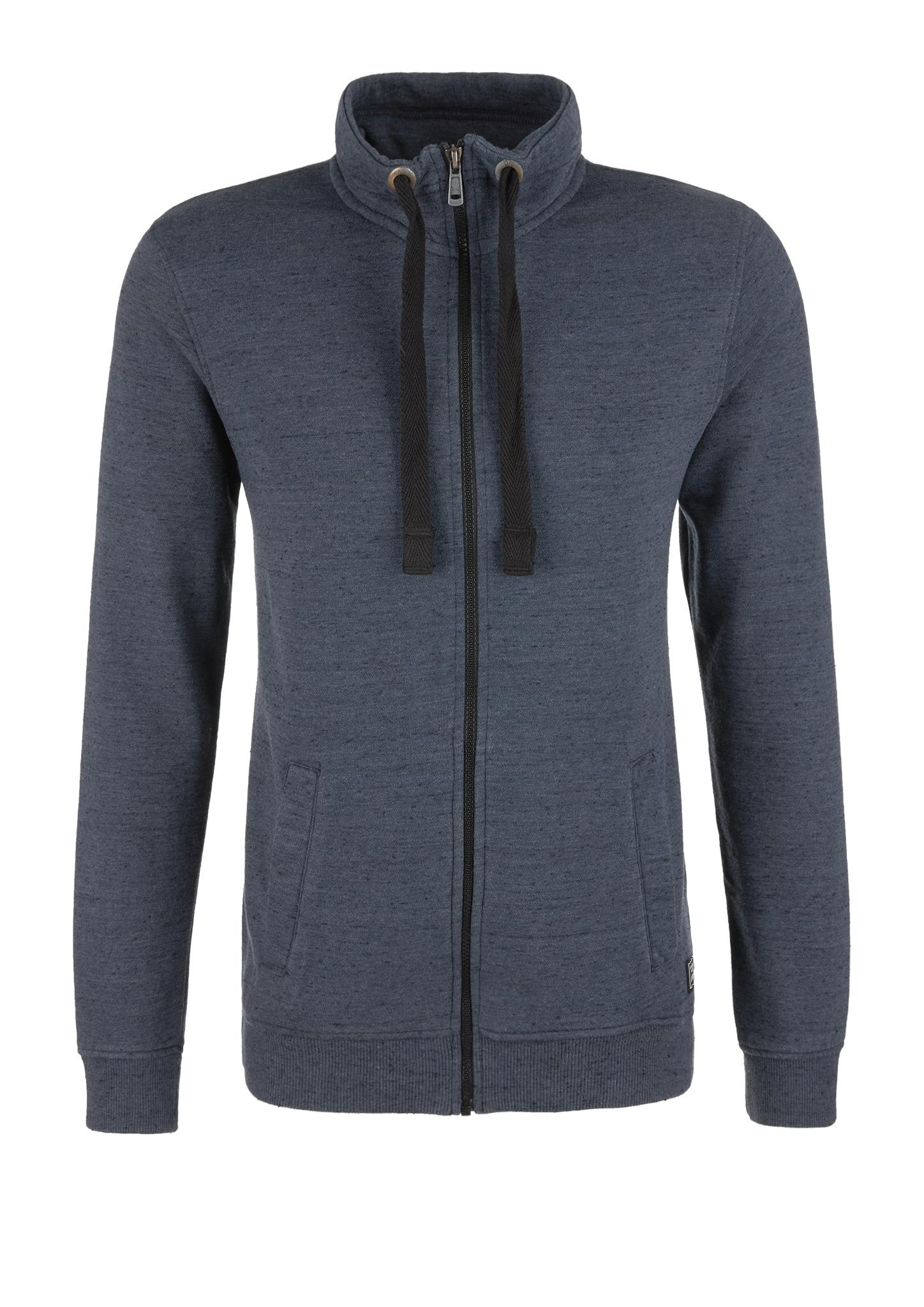 Sweatjacke | Bekleidung > Sweatshirts & -jacken > Sweatjacken | Blau | Obermaterial: 60% baumwolle -  40% polyester| manschette/bund 63% baumwolle -  34% polyester -  3% elasthan | Q/S designed by