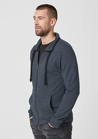 Melange sweatshirt jacket from s.Oliver