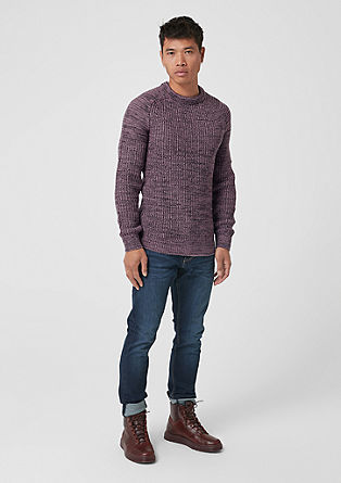 Melange chunky knit jumper from s.Oliver