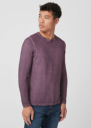 Garment-dyed knitted jumper from s.Oliver