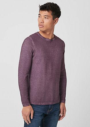 Gebreide garment-dyed trui