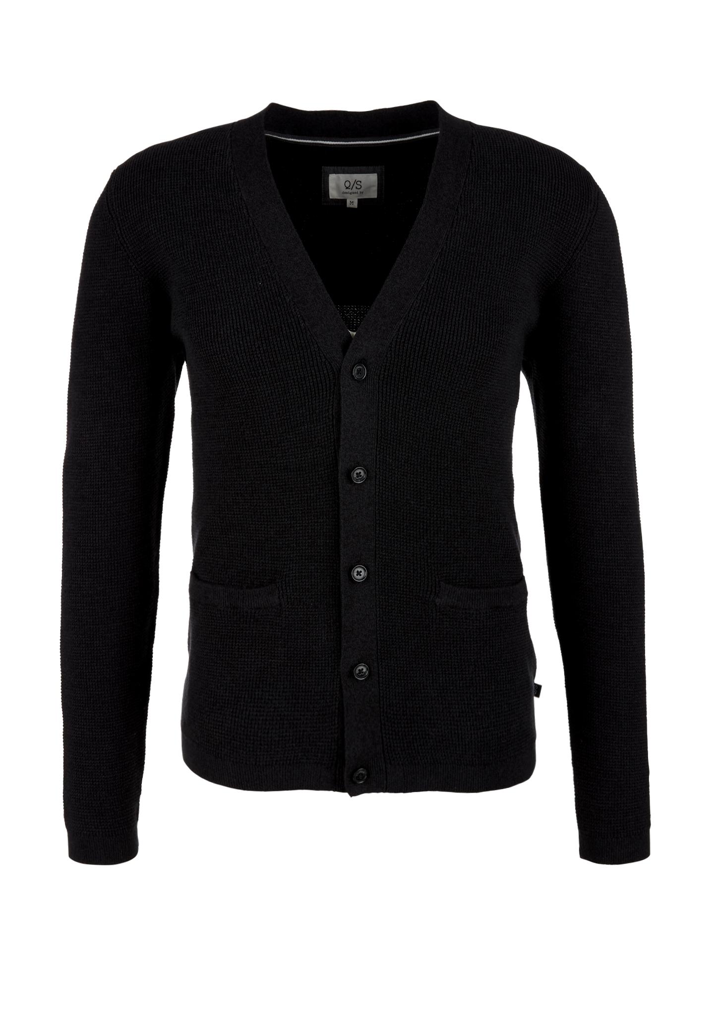 Strickcardigan | Bekleidung > Strickjacken & Cardigans | Schwarz | 100% baumwolle | Q/S designed by
