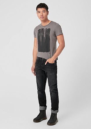 Rick Slim: jeans with distressed details from s.Oliver