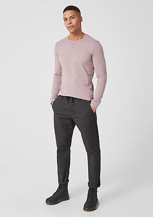 Elroy Slim: flannel chinos from s.Oliver