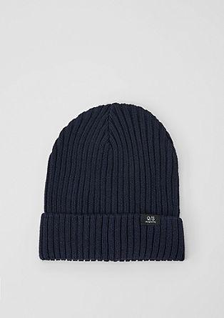 Čepice zžebrové pleteniny