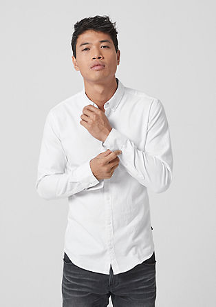 Extra Slim: cotton twill shirt from s.Oliver