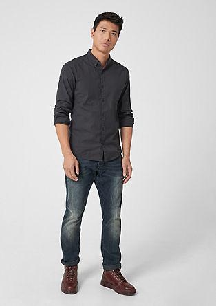 Extra Slim: keprová košile z bavlny