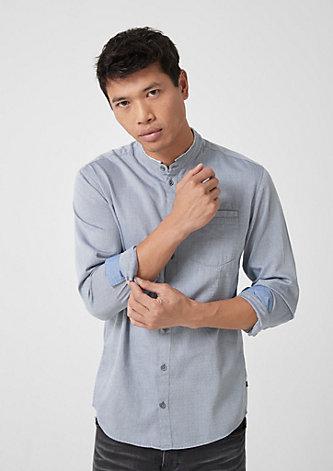 Extra Slim: Hemd mit Strukturmuster