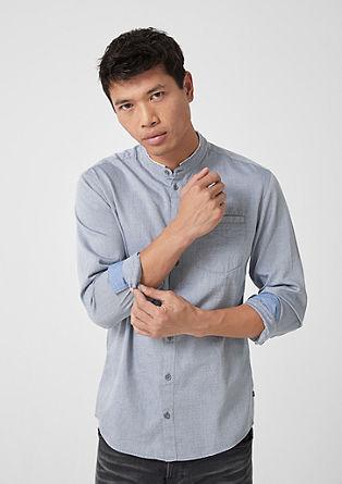 Extra slim: overhemd met de structuur van dobby