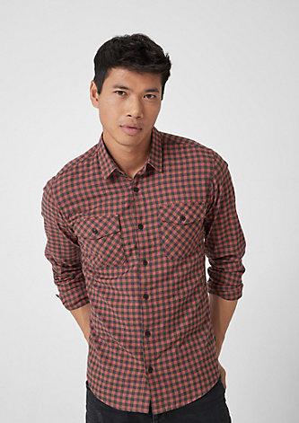 Extra Slim: Flanellhemd mit Karos
