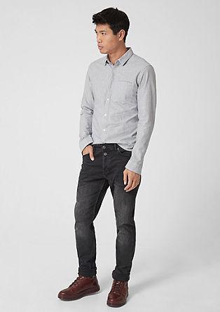 Extra Slim: Hemd mit Dobby-Streifen