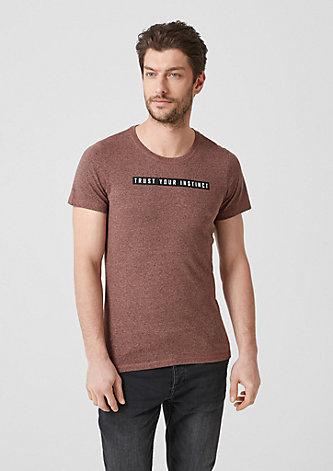 Meliertes Statement-Shirt