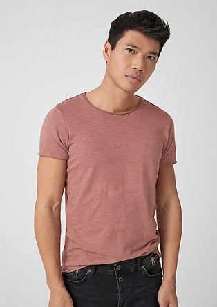 T-shirt met slubstructuur
