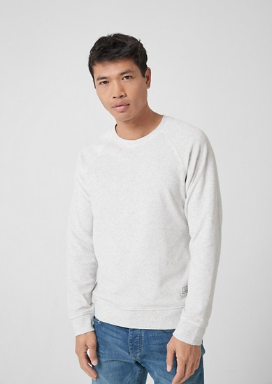 Melange velour sweatshirt from s.Oliver