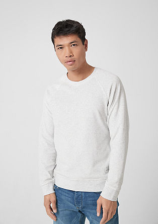 Melange velour sweatshirt from s.Oliver